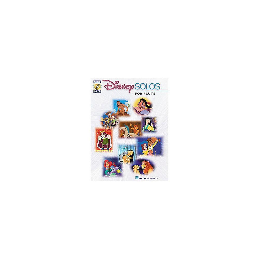 Hal Leonard Play-Along Disney Solos Book with CD Flute