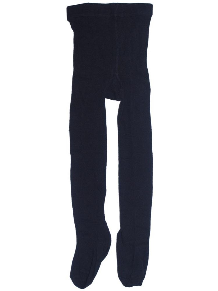 Navy Piccolo Heavyweight Opaque Baby Girl Tights 0-24M