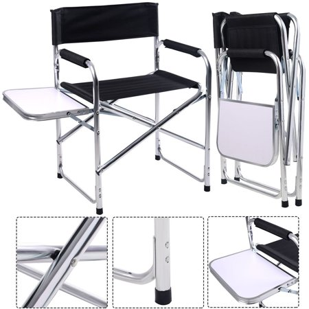 Aluminum Folding Director S Chair With Side Table Camping