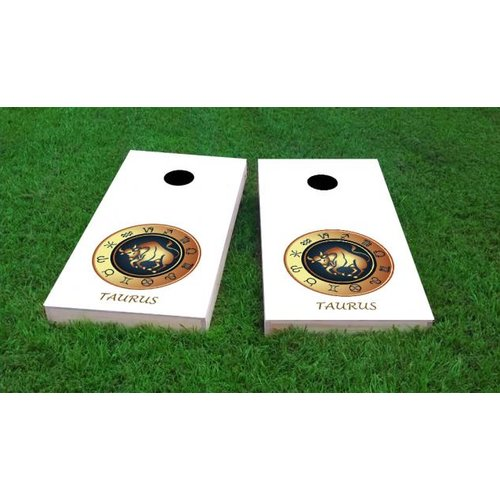 Custom Cornhole Boards Zodiac Taurus Themed Cornhole Game (Set of 2) by Custom Cornhole Boards
