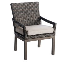 """34"""" Brown Wicker Outdoor Dining Chair Pack of 2"""