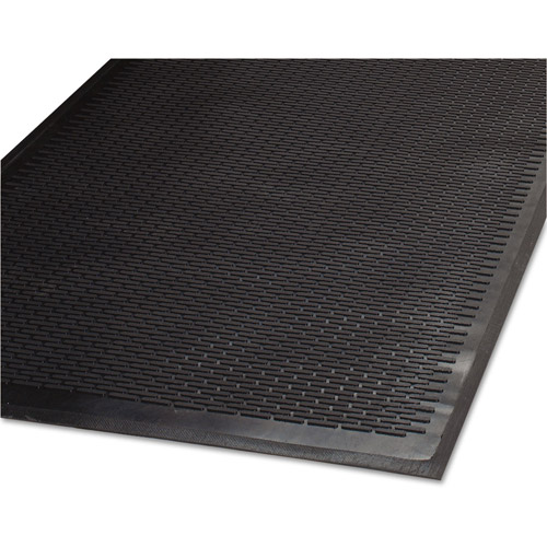 Guardian Cleanstep Outdoor Polypropylene Rubber Scraper Mat, 36 X 60, Black