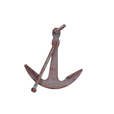 Deluxe Paperweight (Rustic Red Whitewashed Deluxe Cast Iron Anchor Paperweight 5