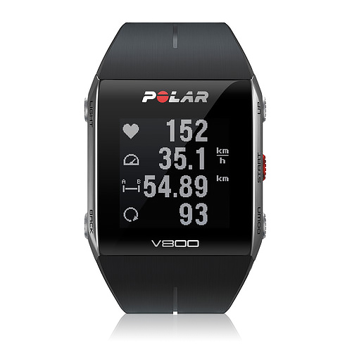 Polar V800 GPS Sports Watch with Heart Rate, Black
