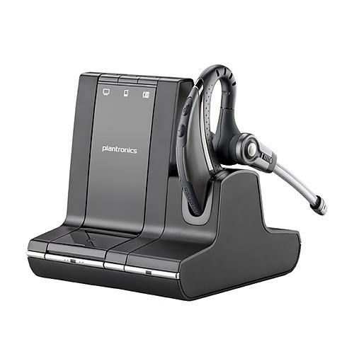 Plantronics Savi W730 Mono Wireless Headset for PC, Mobile & Desk Phones