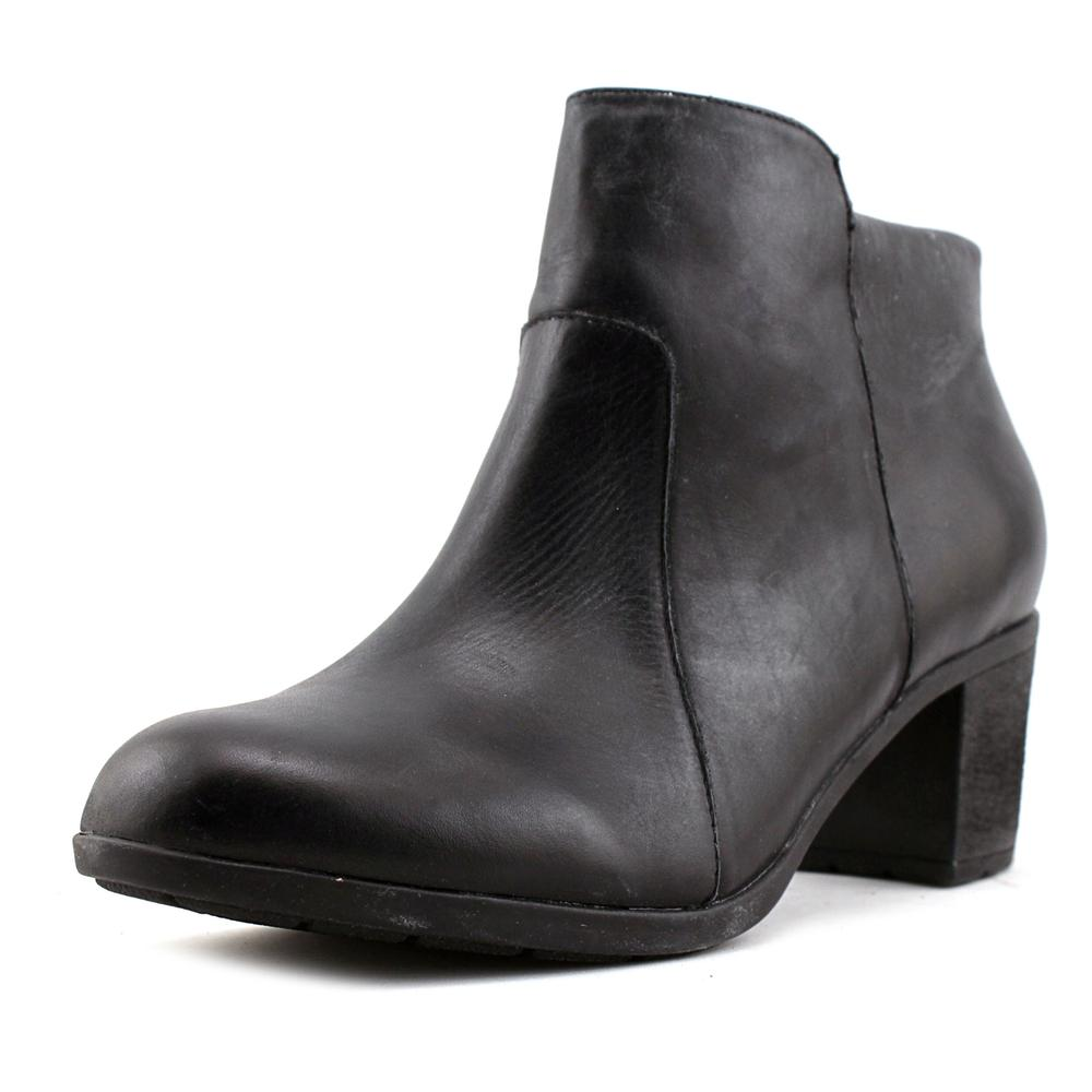 Easy Spirit Billian Women Round Toe Leather Black Ankle Boot by Easy Spirit