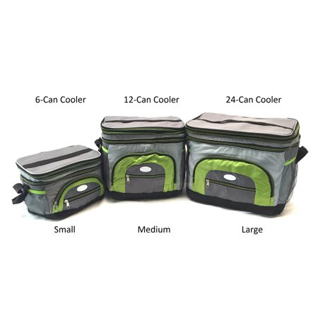 Handheld Soft Can Cooler Bag Expandable Top With Hard