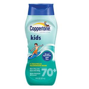 Coppertone Kids Sunscreen SPF 70, 8 oz - 1 Each