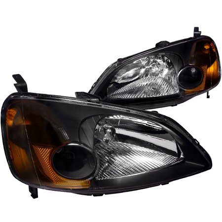 Spec-D Tuning 2001-2003 Honda Civic Dx Ex Lx Jdm Headlights Head Lamps 01 02 03 (Left + Right)
