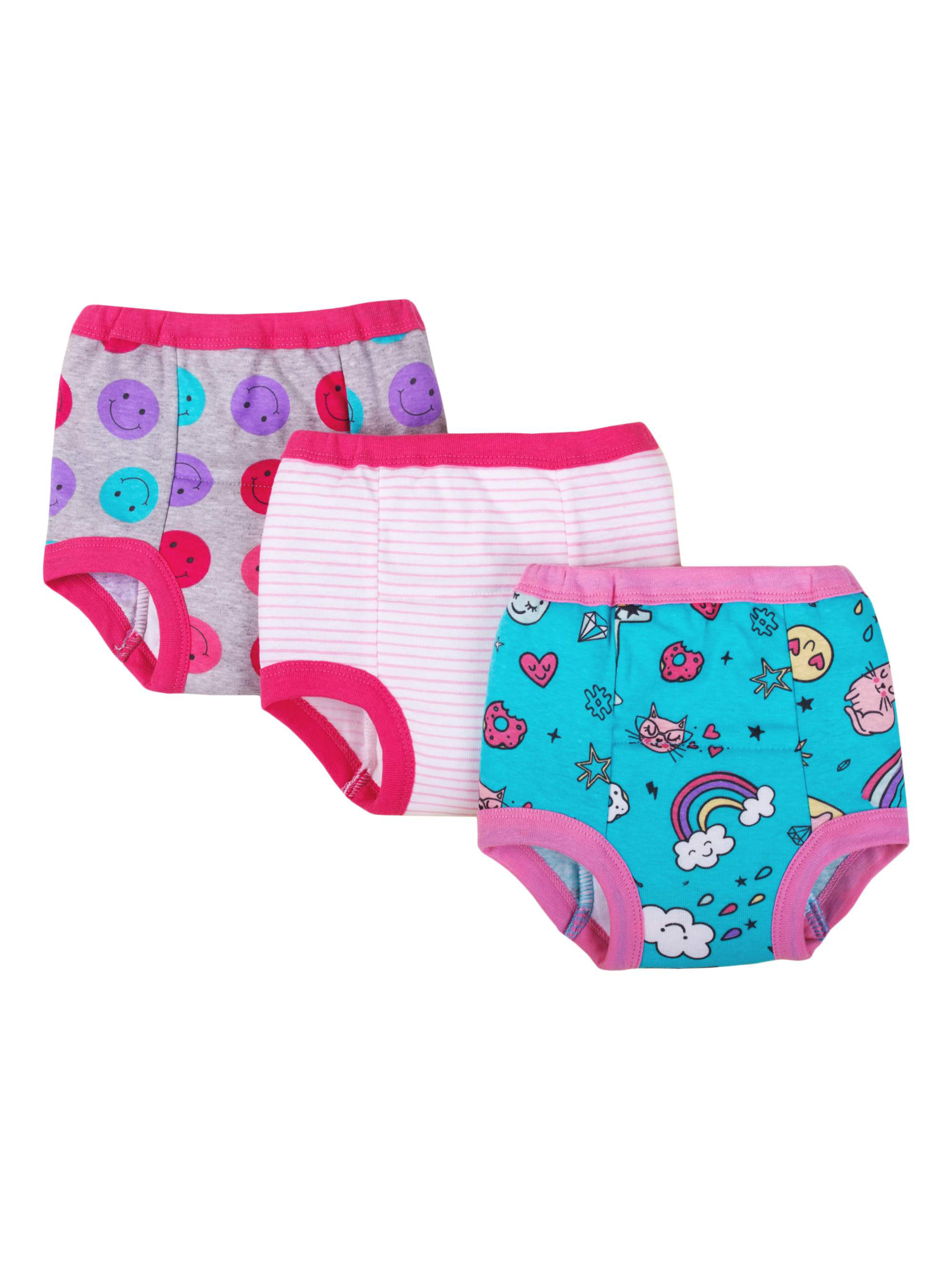 Little Star Organic Assorted Training Pants, 3-pack (Toddler Girls)