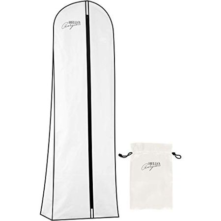 Premium Wedding Dress and Long Gown Garment Bag  Travel + Storage  72 In, 10 In Gusset, Breathable christening dress garment bag graduation gown bag gusseted gown dress garment bag wedding dress garment bag airplane wedding dress preservation garment bag wedding dress traveling garment bag xlarge wedding dress bag wedding dress permanant storage bag wedding dress permanent storage bag long gown bag for protection wedding dress protector bag long xxl garment bag for wedding dress carryon size wedding garment bag destination wedding dress garment bag ballroom gown garment bag