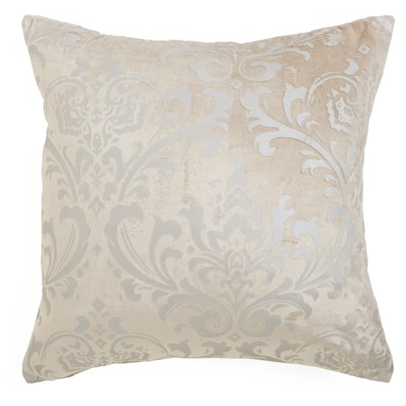 Best Home Fashion Damask Velvet Pillow