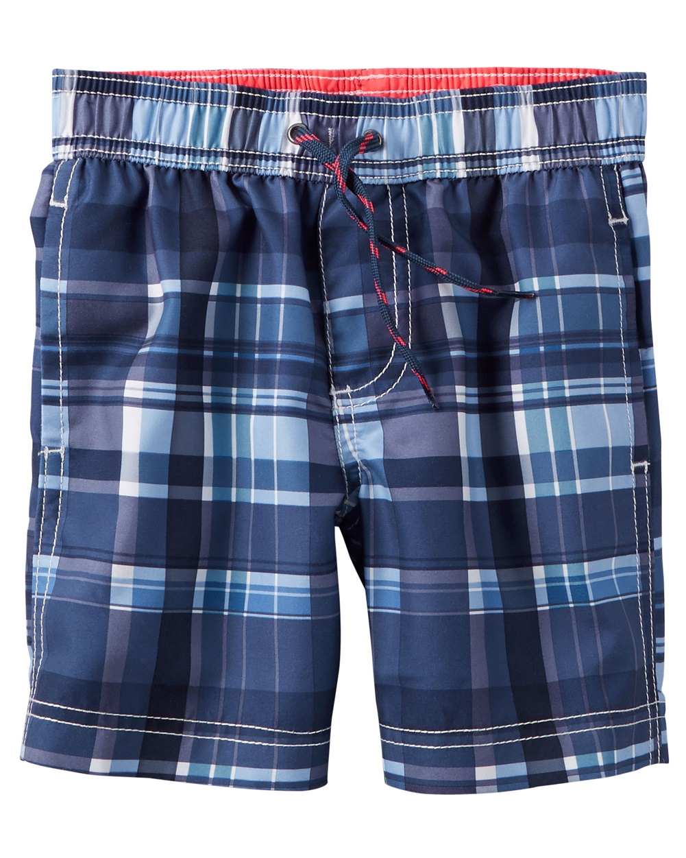 Carter's Baby Boys' Plaid Swim Trunks, 24 Months