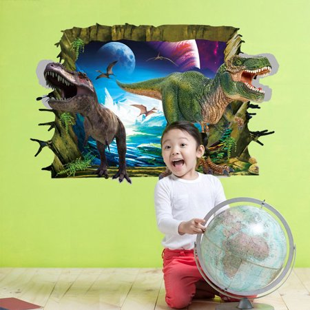Cool 3D Dinosaur Floor Wall Sticker Removable Vinyl Art Home Decal DIY For