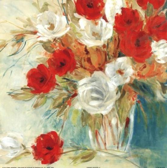 Vibrant Bouquet II Poster Print by Carol Robinson (12 x 12)