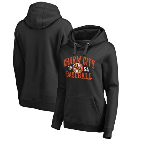 - Baltimore Orioles Women's Charm City Hometown Pullover Hoodie - Black