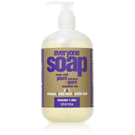 Everyone Lavender & Aloe 3-in-1 Soap Moisturizing Shampoo Body Wash & Bubble Bath 16