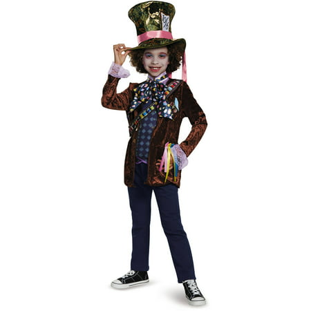 Mad Hatter Classic Child Halloween Costume - Mad Hatter Tim Burton Costume