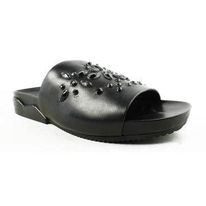 Tory Burch Womens  Black Slide Flats Size 10 New