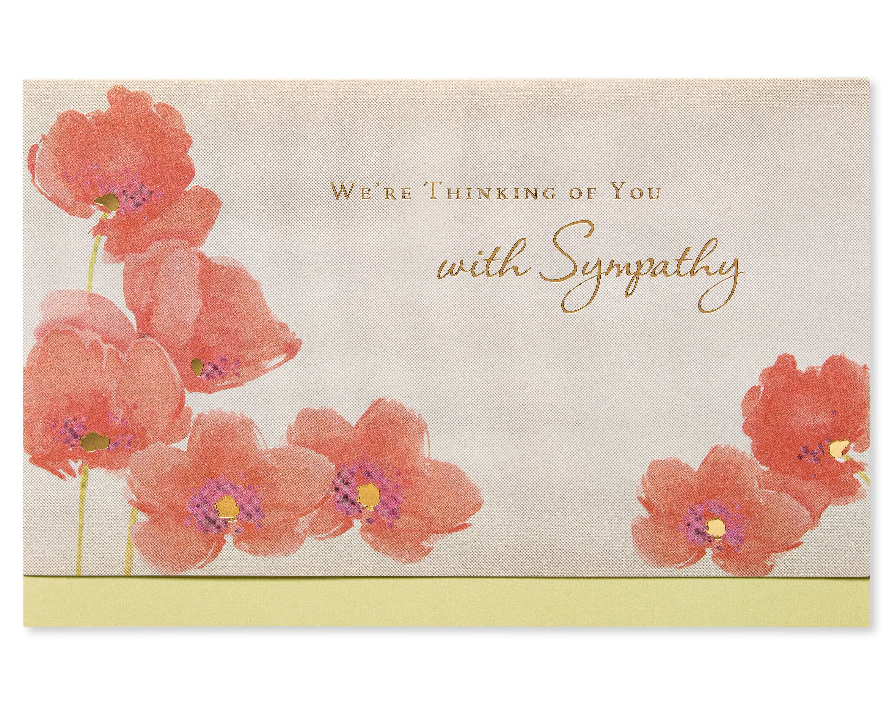 American Greetings Our Deepest Sympathy Card With Foil Walmart