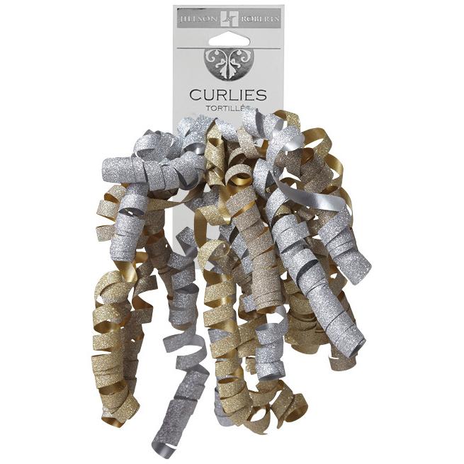 Jillson & Roberts Curlie Gift Bows, Icy (120 Pcs)