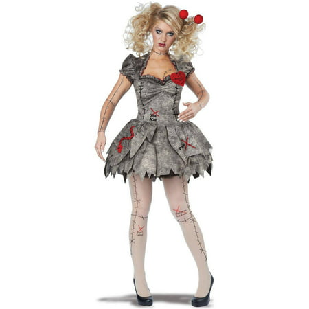 Adult Voodoo Dolly Women's Adult Halloween Costume - Voodoo Doll Costume Ideas