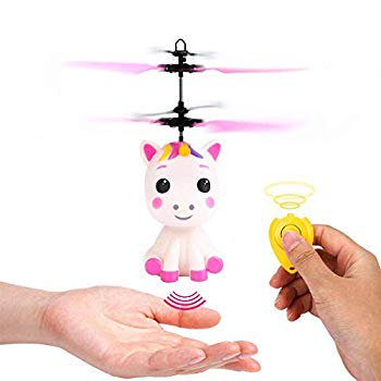 Flying Unicorn Toys Flying Fairy Toys for Kids, Flying Ball RC Helicopter with Remote Control Hand Controlled Horse Unicorn Best Gift for