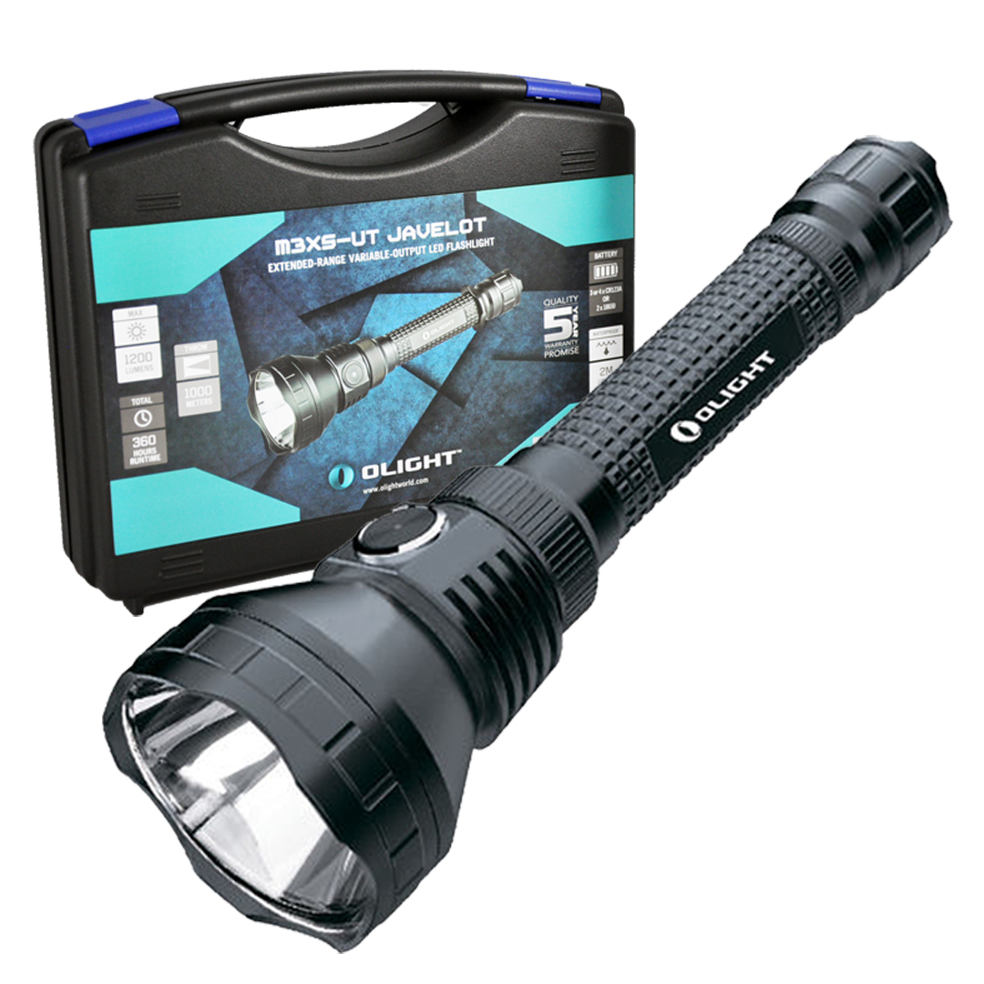 Olight M3XS UT Javelot 1093 Yards Long Throw CREE XP-L LED Flashlight - 1200 Lumens