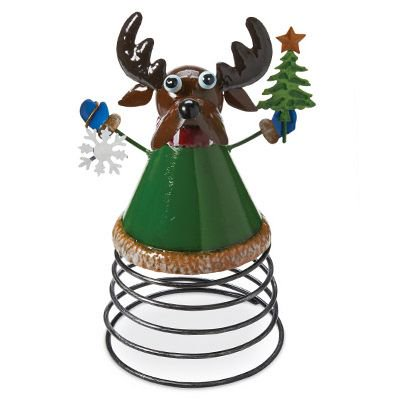 - 4 Seasons Global JF142583 Christmas Tabletop Decoration, Reindeer On A Spring