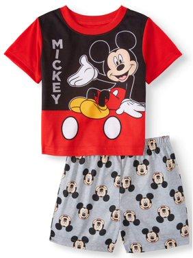 Product Image Mickey Mouse Short Sleeve Shirt Shorts 2pc Pajama Set Toddler Boys