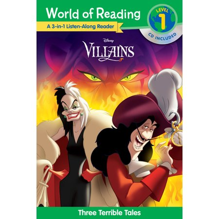 World of Reading Villains 3-in-1 Listen-Along Reader (World of Reading Level 1) : 3 Terrible Tales with CD! ()
