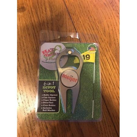 Srixon 6 in 1 Divot Tool-Bottle & Can Opener Cigar & Club Holder Ball Marker Cigar Holder Divot Tool