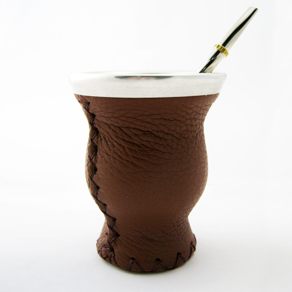 Mate Gourd Leather Glass Bombilla Straw Argentina Gaucho ...