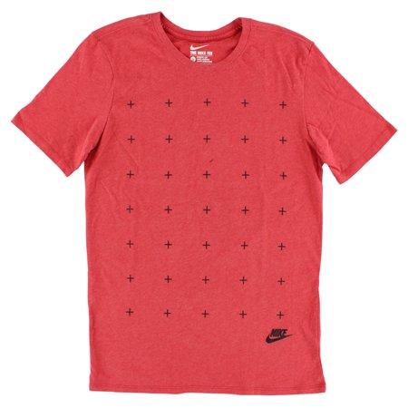 Nike Mens Matte Silicon Futura T Shirt Red