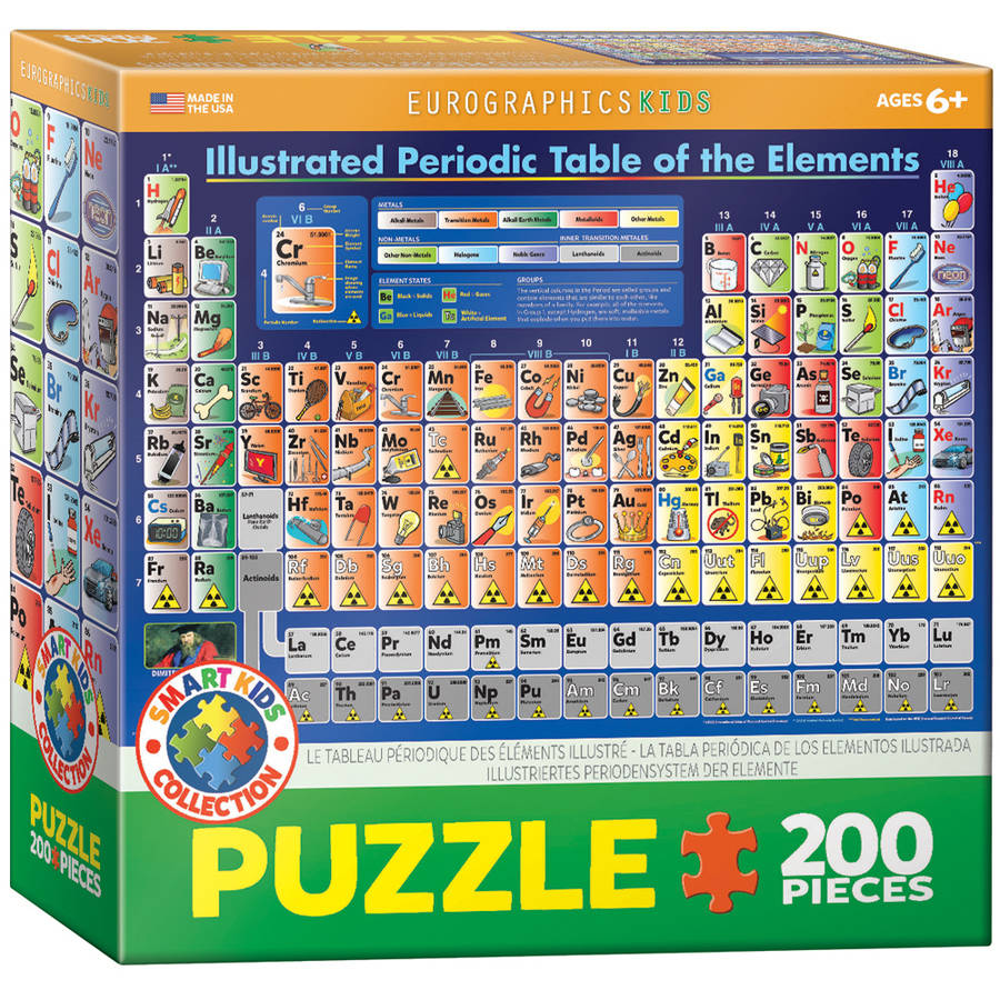 EuroGraphics Periodic Table Illustrated 200-Piece Puzzle