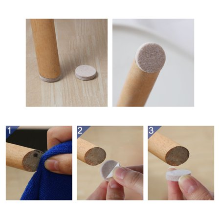 "Furniture Pads Round 1 3/4"" Self-stick Anti-scratch Table Floor Protector 24pcs - image 3 of 7"