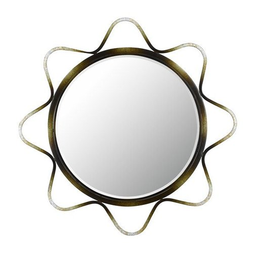 Cal Lighting WA-2141MIR Lorca Metal Decorative Mirror, Metallic