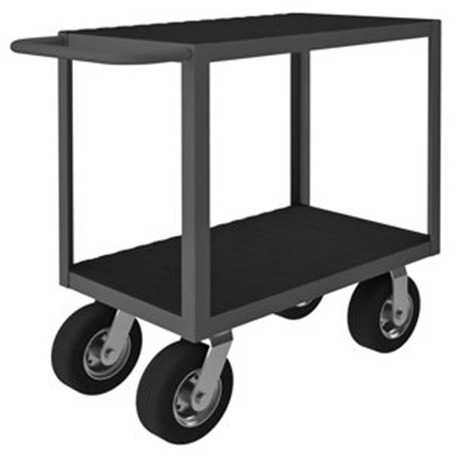 Durham RIC-1830-2-8SPN-95 34 in. Rolling Instrument Cart, Gray - 1200 lbs