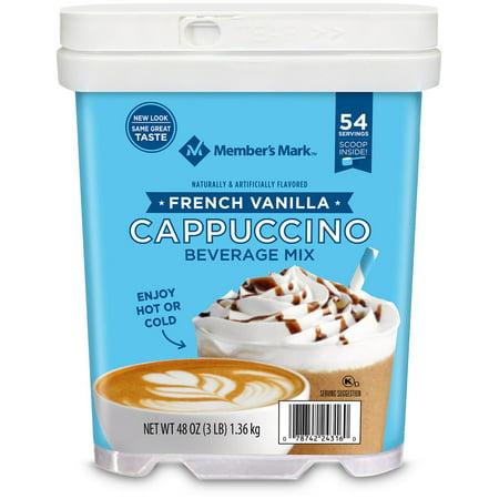 French Vanilla Cappuccino Beverage Mix 48 oz