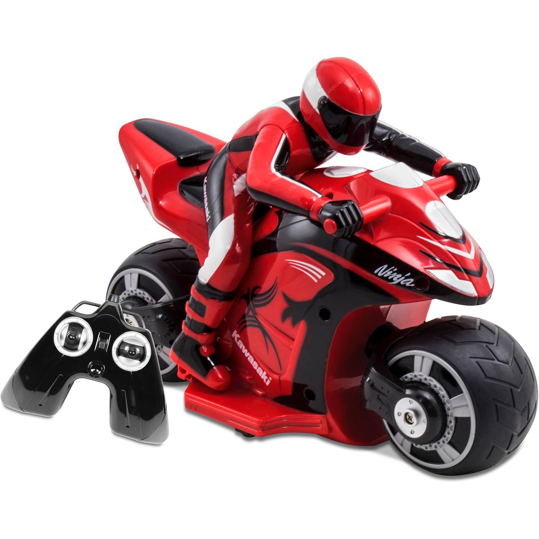 Kid Galaxy Kawasaki Ninja RC Cycle, Red and Black