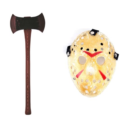 Jason Voorhees Vs Freddy Friday The 13Th Hockey Mask Double Blade Axe - Friday The 13 Vs Halloween