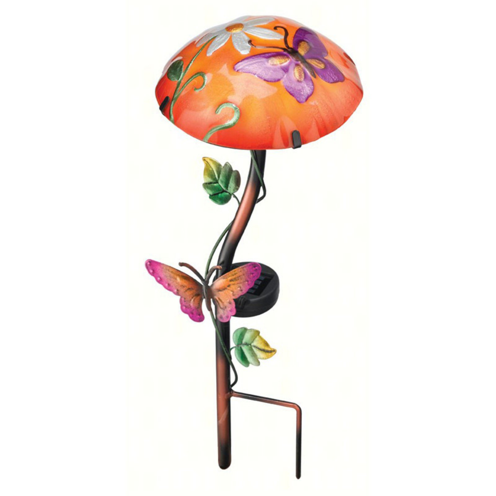 Regal Art and Gift Solar Mushroom Stake with Butterfly