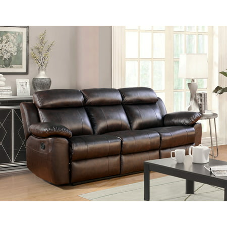 Incredible Devon Claire Brandy Brown Top Grain Leather Reclining Sofa Squirreltailoven Fun Painted Chair Ideas Images Squirreltailovenorg