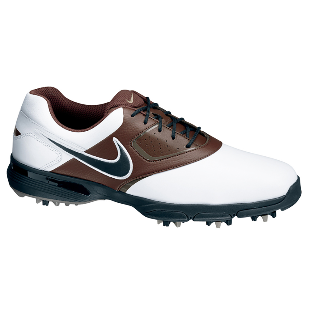 NEW Mens Nike Heritage Golf Shoes White/Brown/Black - Choose Your Size