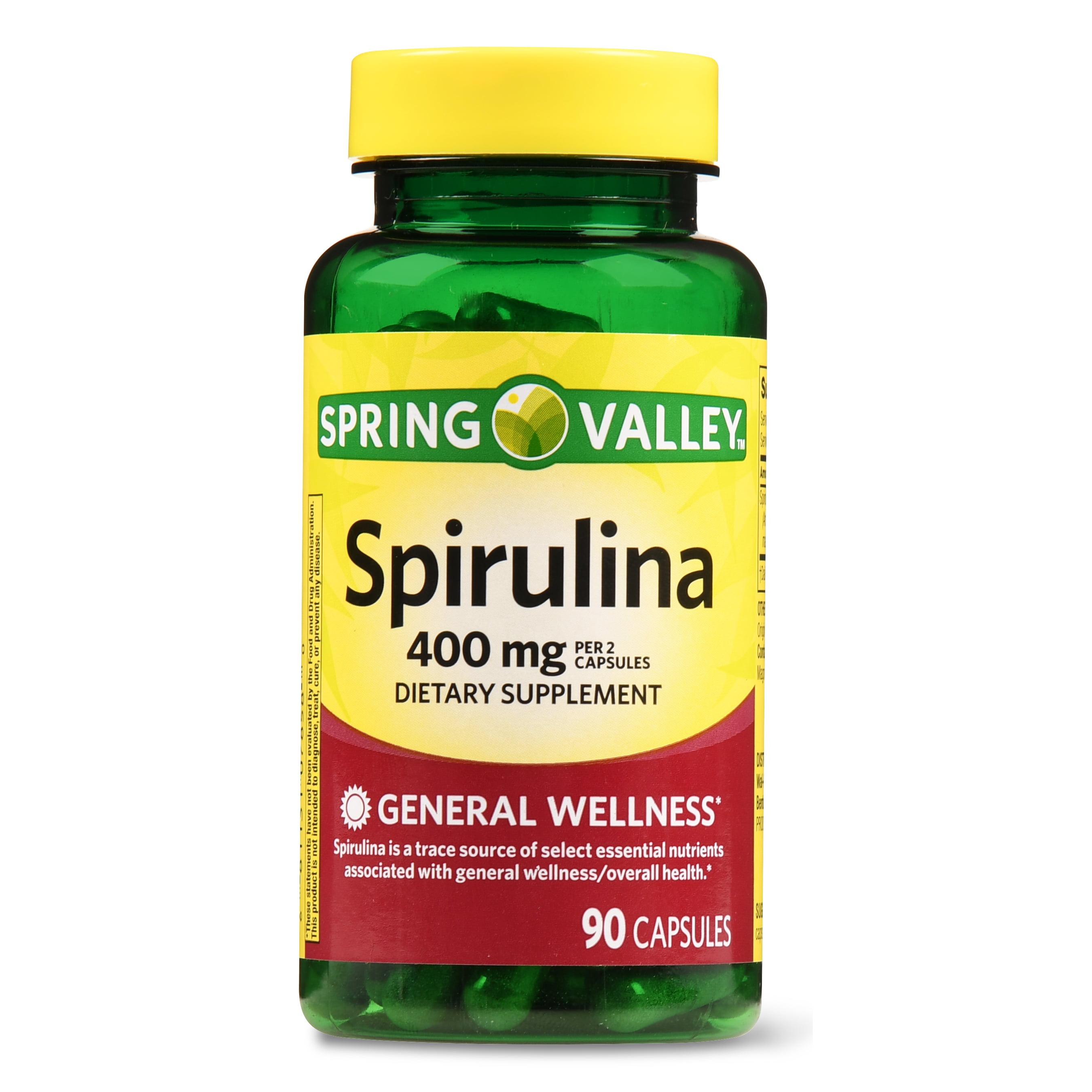 Spring Valley Spirulina Capsules, 400 mg, 90 Ct