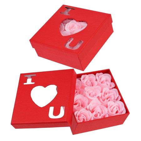 """Pink """"I Love You"""" Rose Soap Petals in Red Box - Walmart.com"""