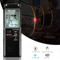 32GB/16GB Digital Voice Activated Recorder for Lectures, EEEkit 12Hrs Sound Audio Recorder Dictaphone Voice Activated Recorder Recording Device w/ Playback, MP3 Player, Noise Reduction