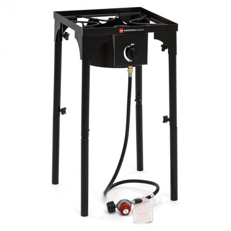 Best Choice Products 100,000 BTU Outdoor Portable Propane Gas High Pressure Single Burner Cooker Stove w/ Removable Legs