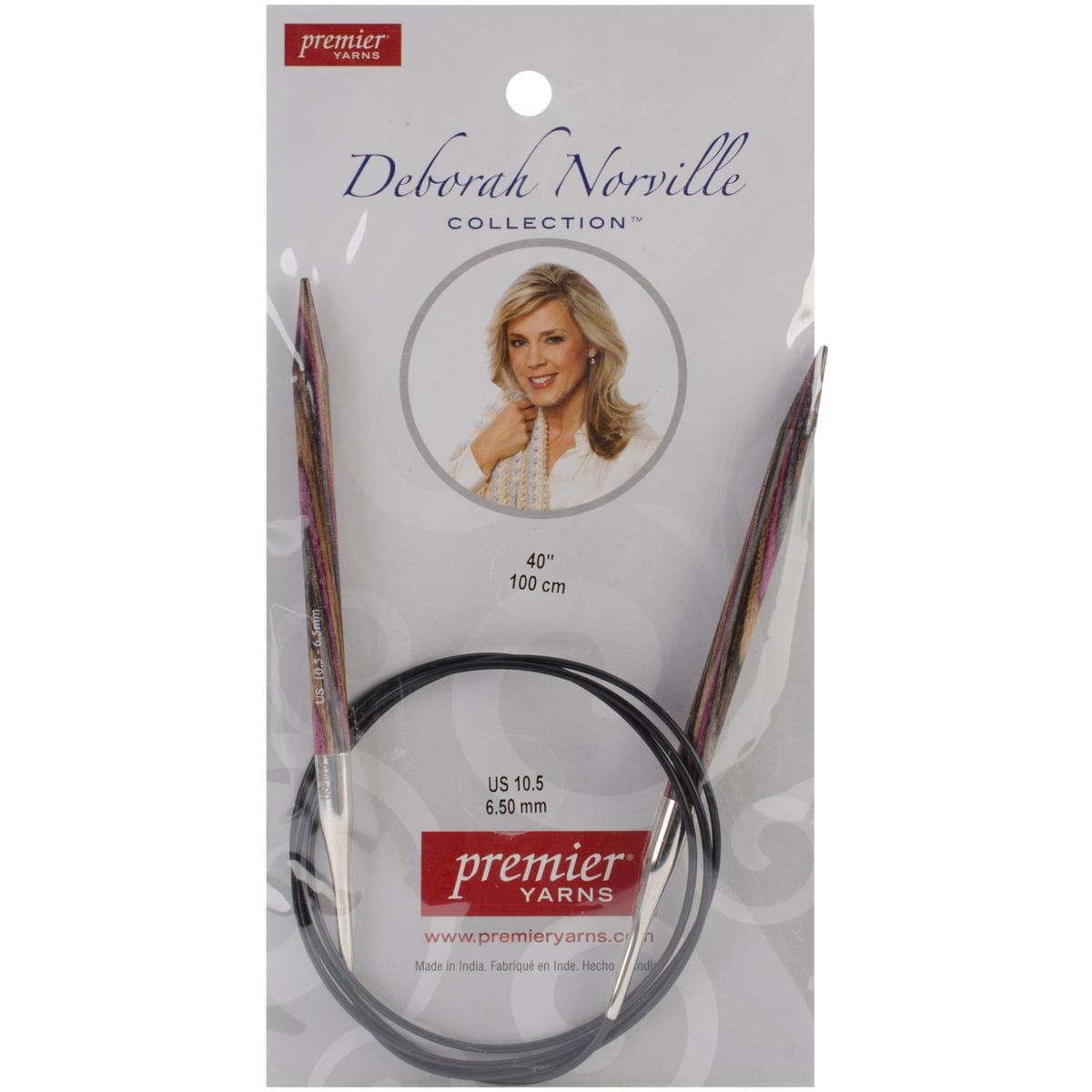Premier Yarns Deborah Norville Fixed Circular Needles, 40-Inch, 10.5/6.5mm Multi-Colored