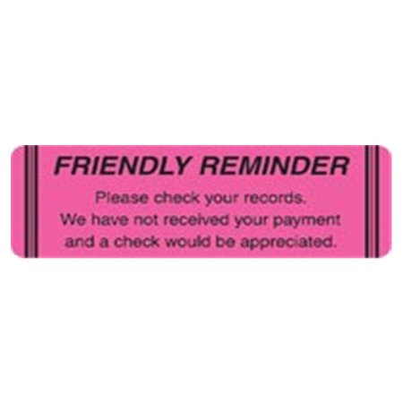 WP000-MAP4440 MAP4440 Chart Label-Friendly Reminder Fl Pink 250 Per Roll From Integrated Filing Solutions -# MAP4440](Friendly Reminder)